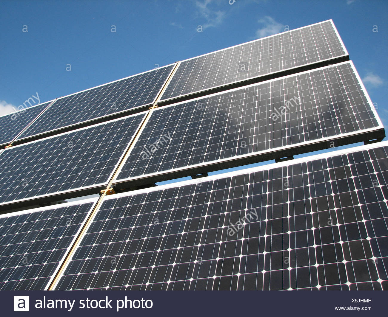 solar,solar panel,photovoltaic system - Stock Image