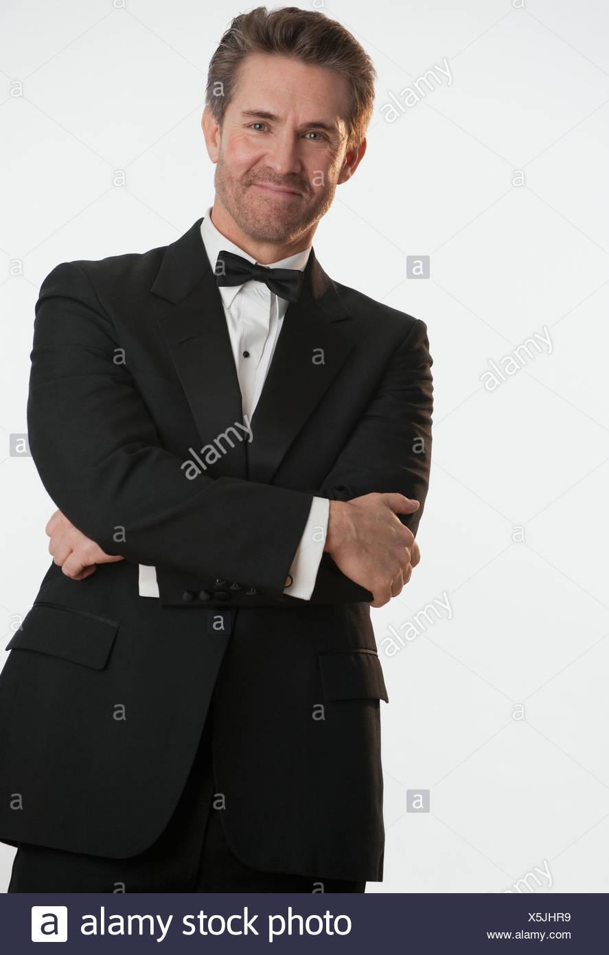 Man in tuxedo - Stock Image