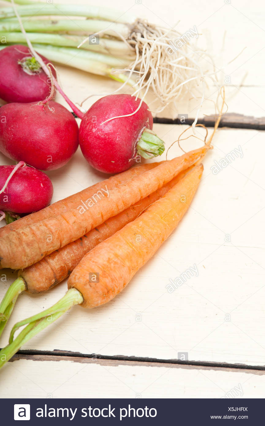 raw root vegetable - Stock Image