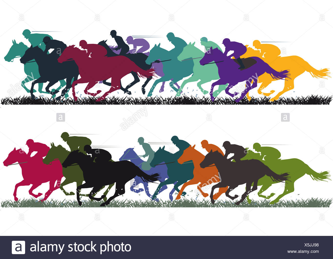 gallop races - Stock Image