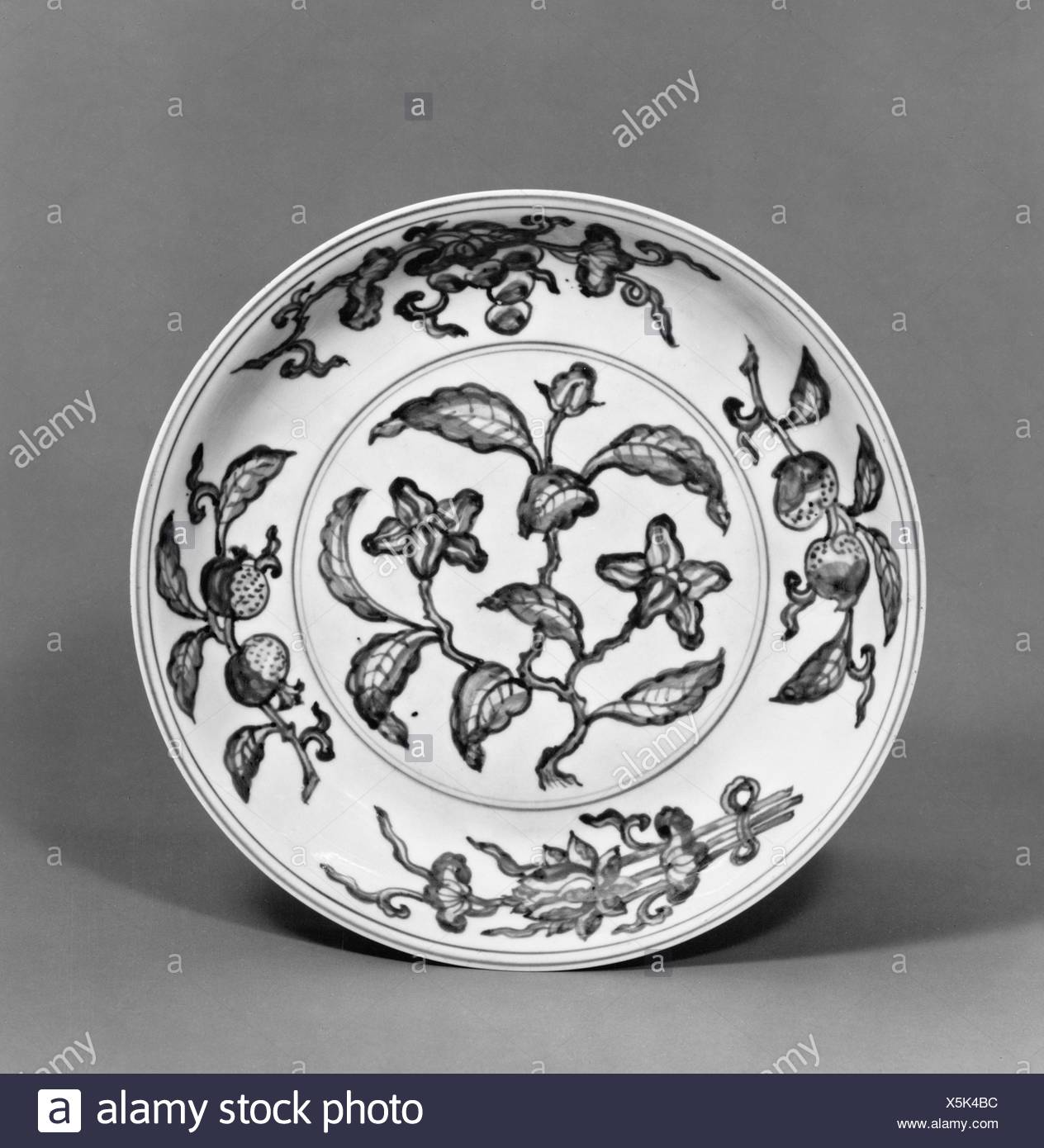 Period: Ming dynasty (1368-1644), Zhengde period (1506-21); Culture: China;  Medium: Porcelain painted in underglaze blue, with overglaze yellow