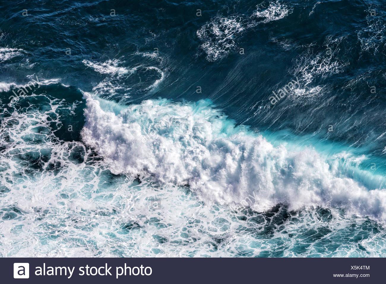 Beautiful Blue Ocean Waves Stock Photo