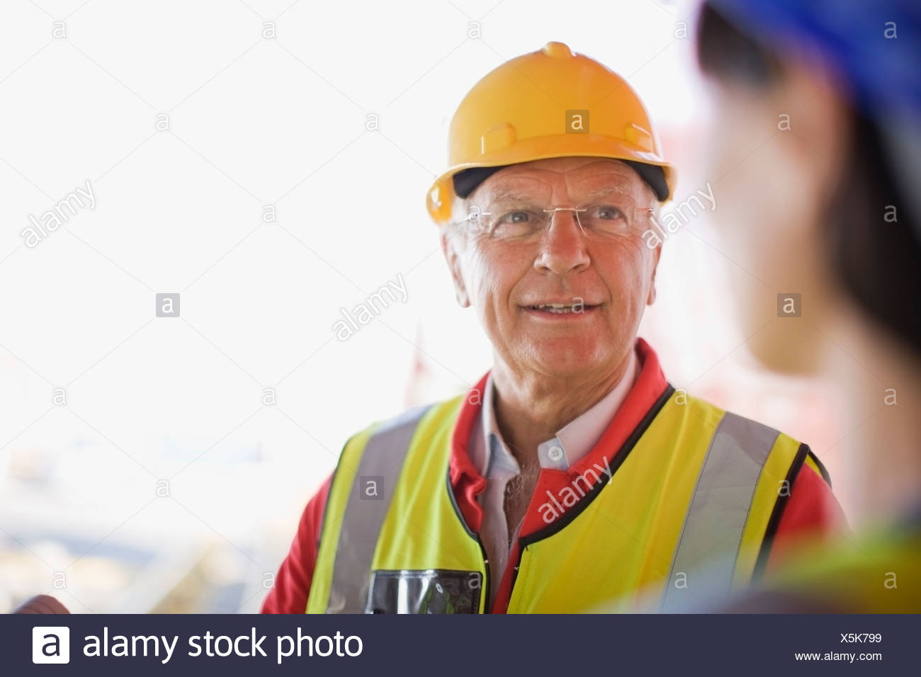 Portrait of a builder - Stock Image