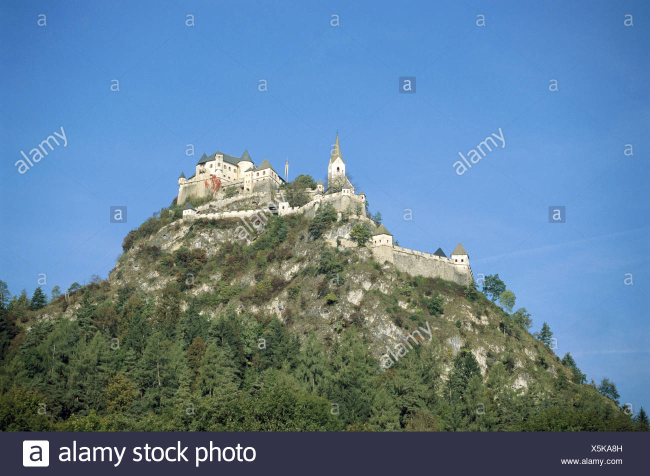 castle high Easter joke builds 1571 1586 Carinthia Austria Europe mountain - Stock Image