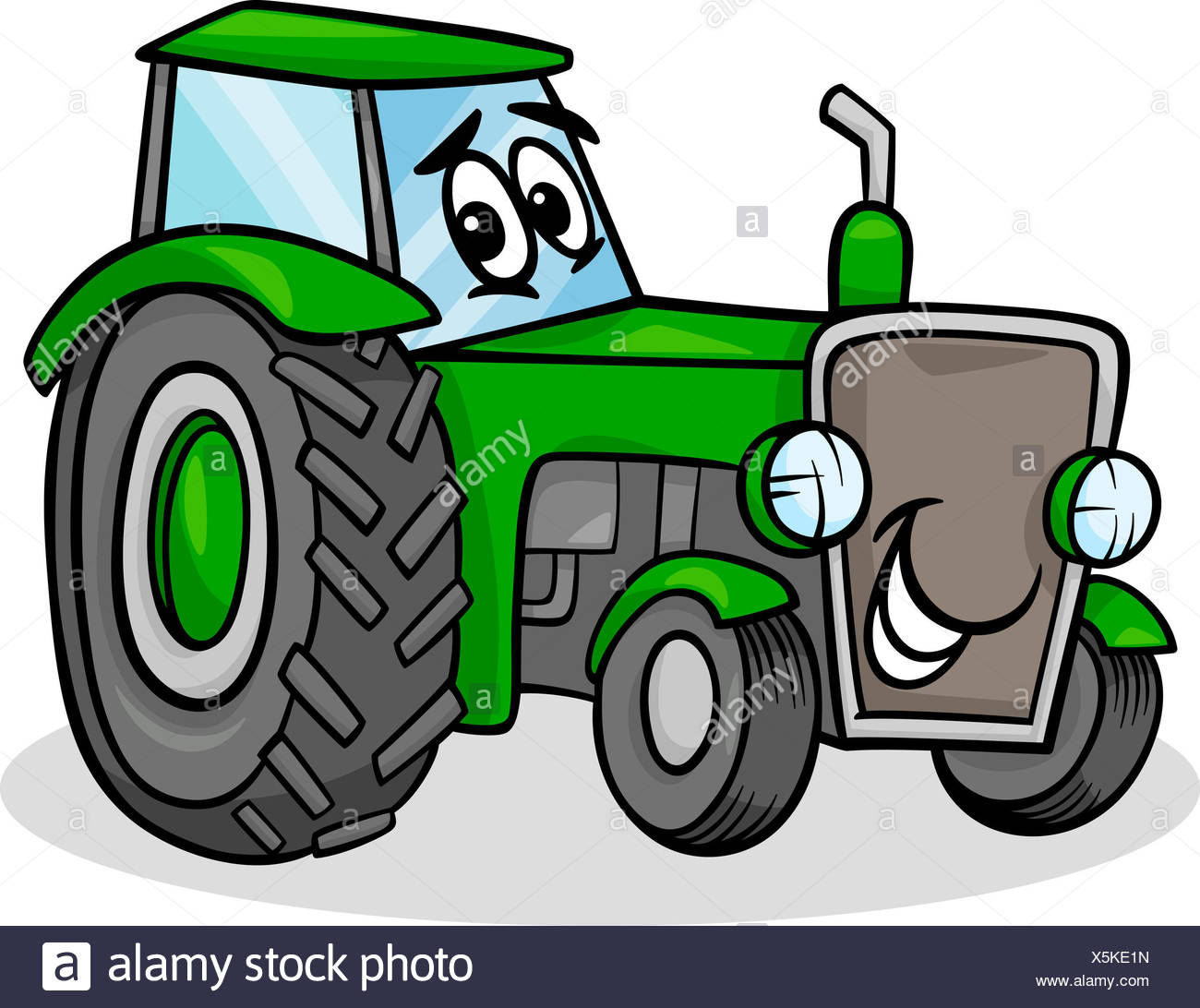 Agriculture Farming Toy Illustration Farm Tractor Cartoon