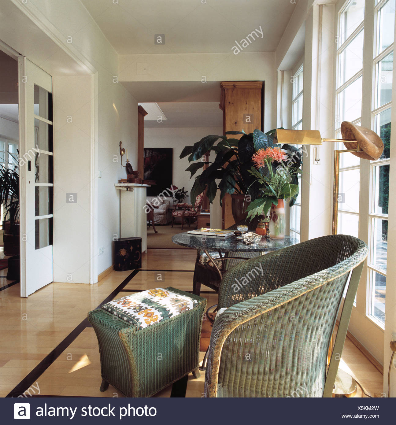 Real Homeshallway With View Into Living Room Floto Ceiling