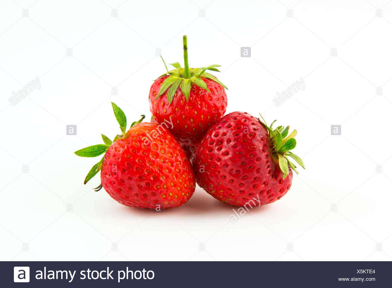exempted strawberries - Stock Image