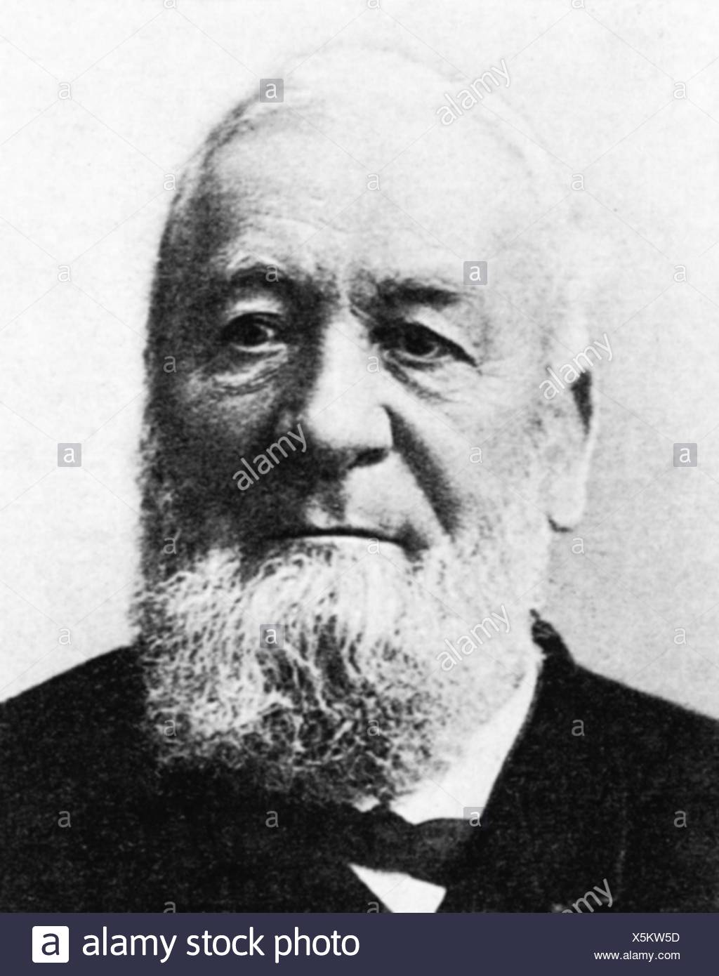 Niklaus Riggenbach, late 19th century - Stock Image