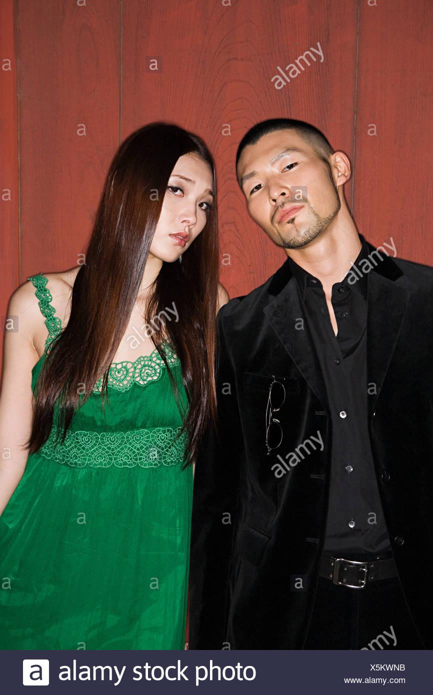 Stylish young couple - Stock Image