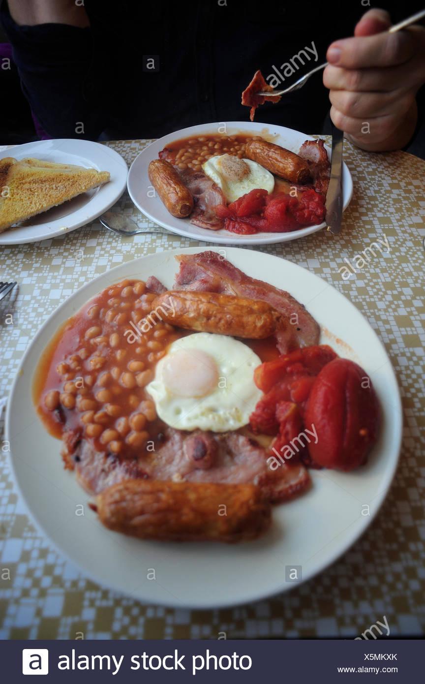 English breakfast, Folkestone, Kent, England - Stock Image