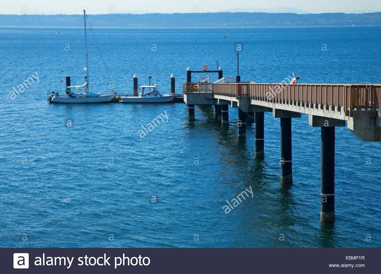 Suquamish Dock, Port Madison Indian Reservation, Suquamish, Washington. - Stock Image
