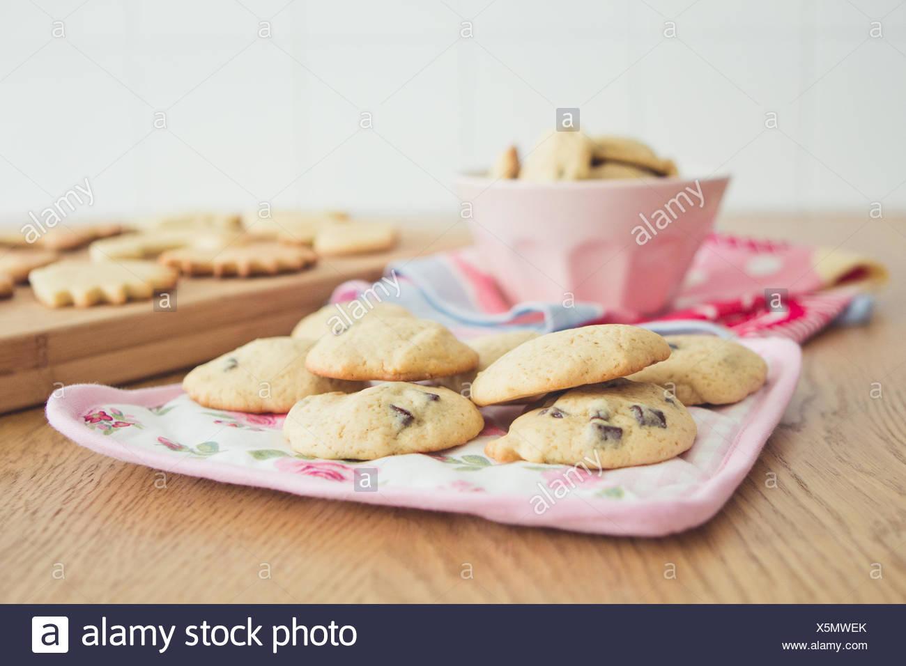 Arrangement of cookies - Stock Image