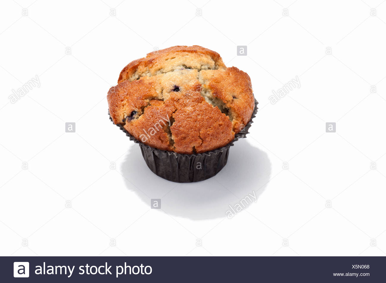 A blueberry muffin - Stock Image