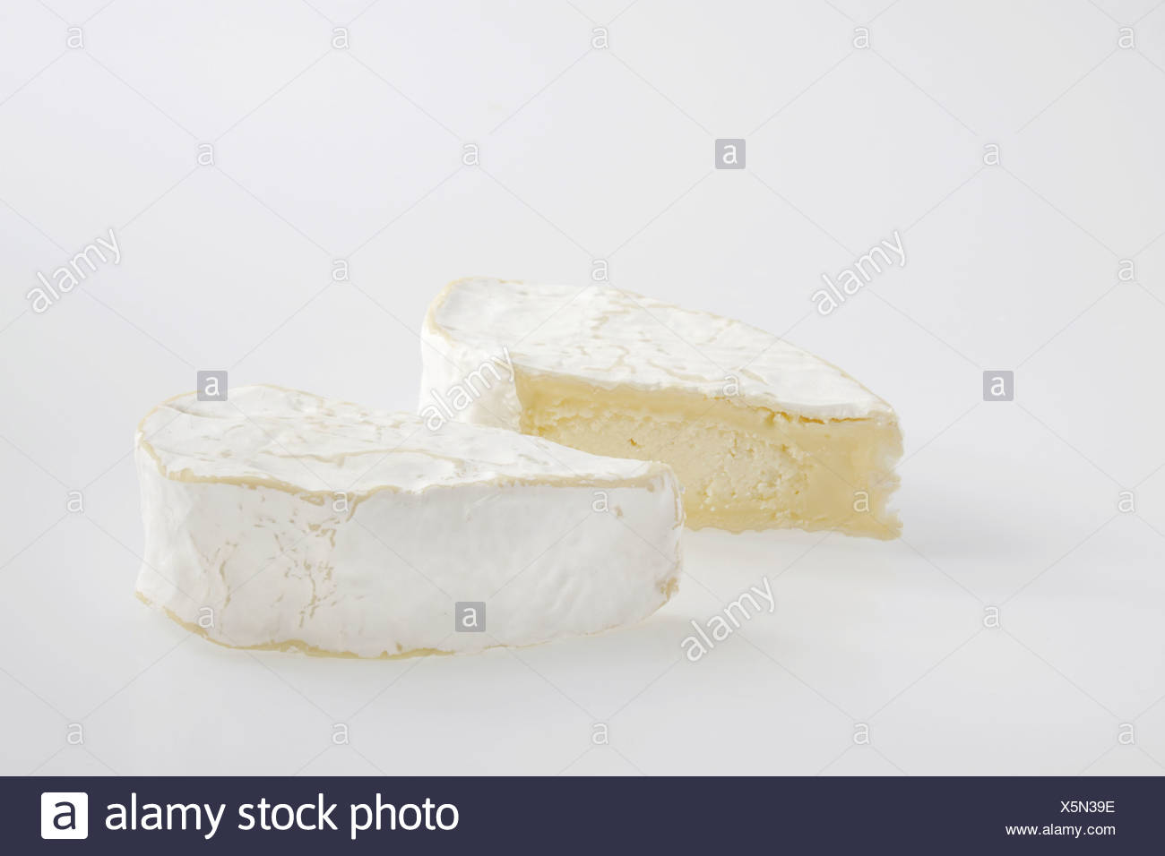 Slice heart of French Coeur de Neufchatel AOC cow's milk cheese - Stock Image