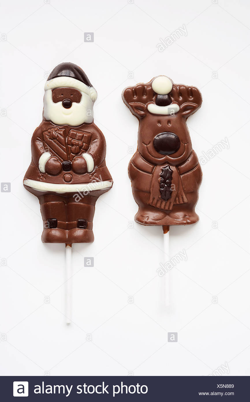 Christmas Chocolate Lollies High Resolution Stock Photography And Images Alamy