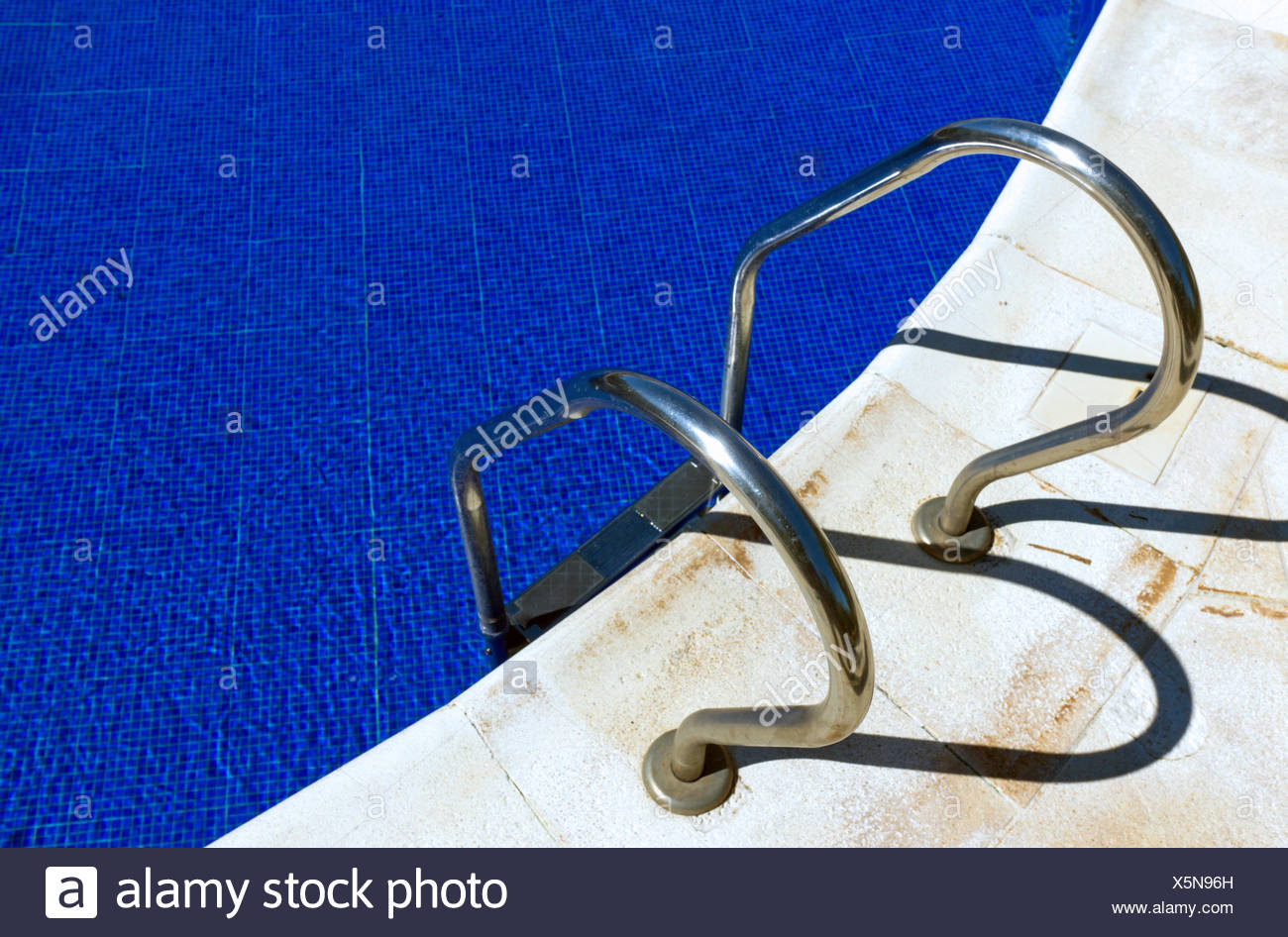 Entrance to a swimming pool - Stock Image