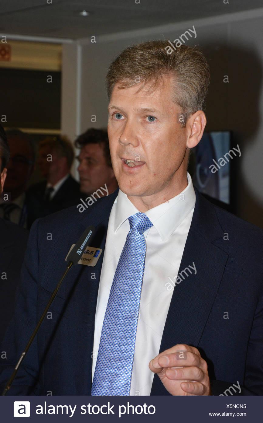 Rolls Royce Aerospace CEO Tony Wood - Stock Image