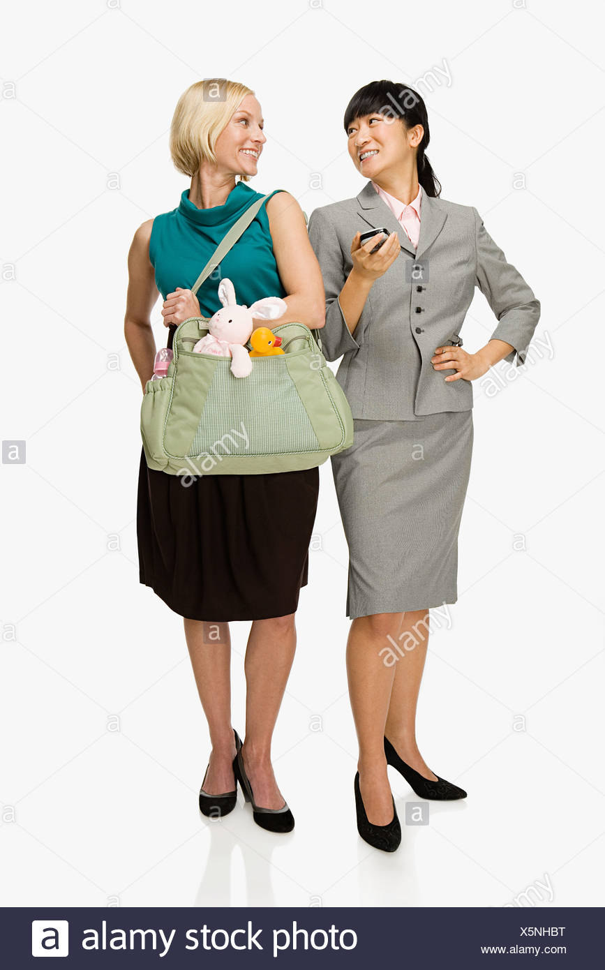 Businesswoman and mother - Stock Image