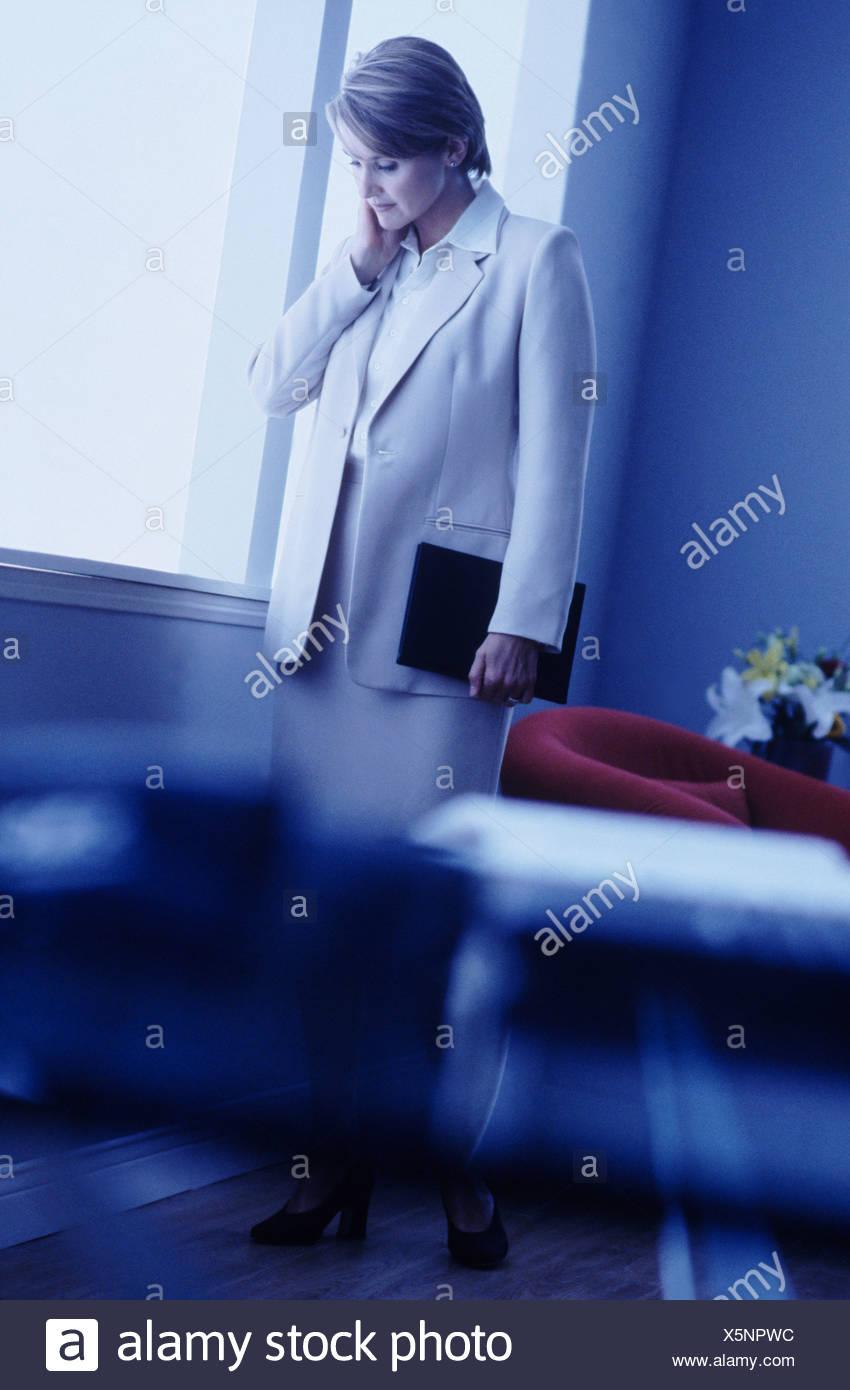 Portrait of a businesswoman - Stock Image