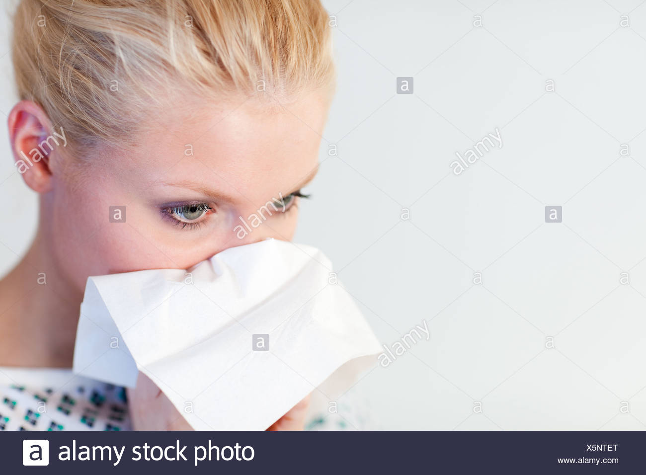 Patient with the flu - Stock Image