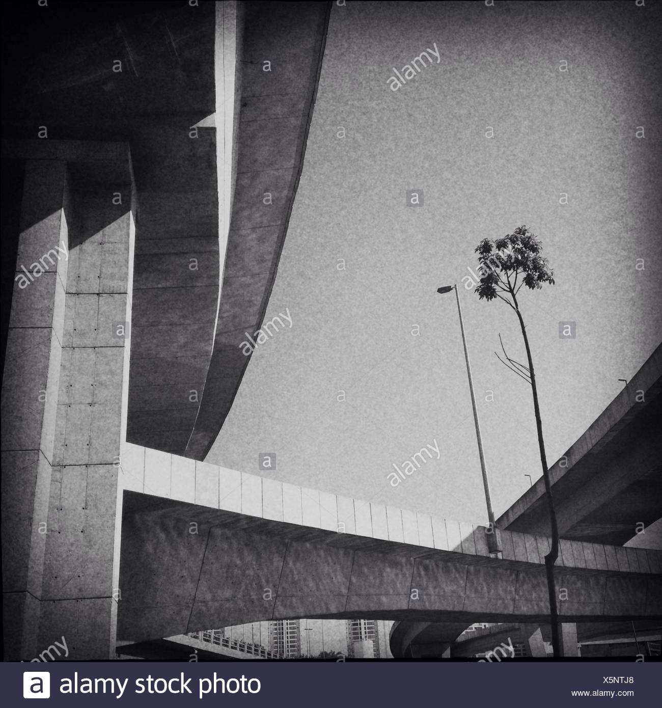 Brazil, Sao Paulo, Elevated roads - Stock Image