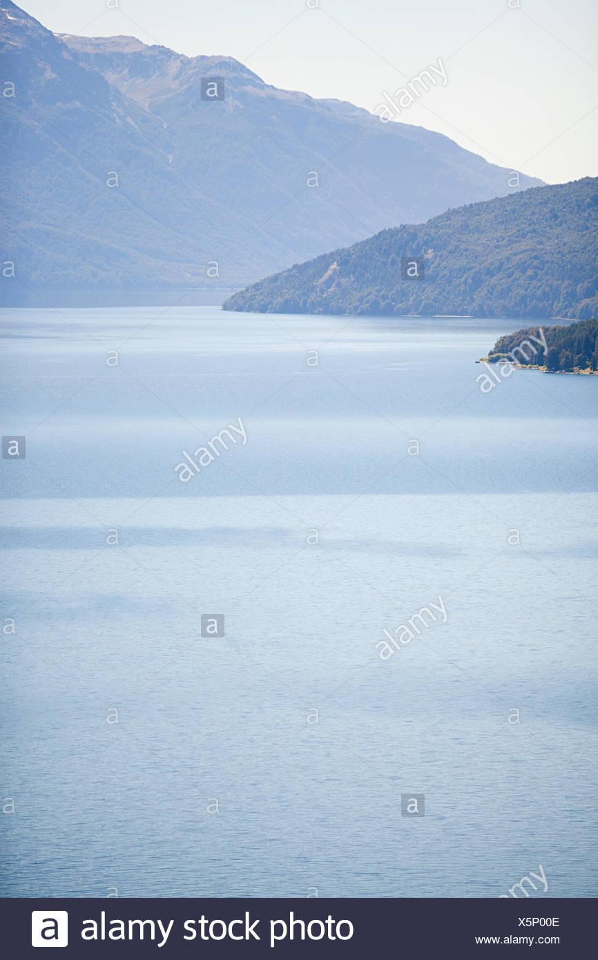 Lake in san carlos de bariloche area in argentina - Stock Image