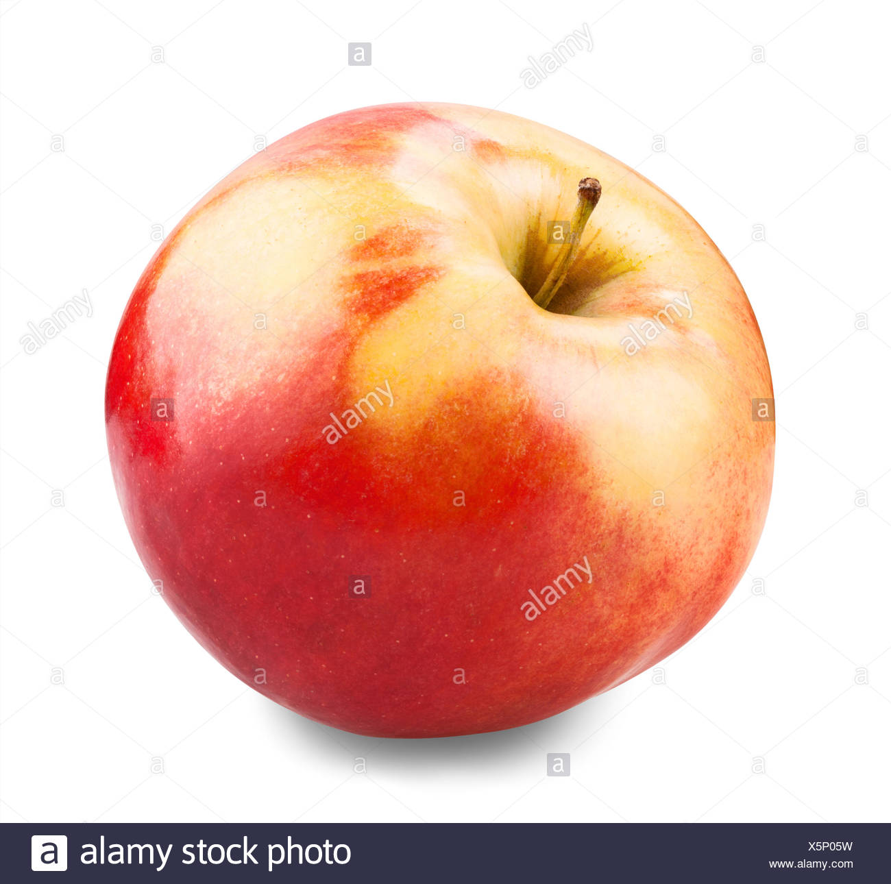 juicy red apple - Stock Image