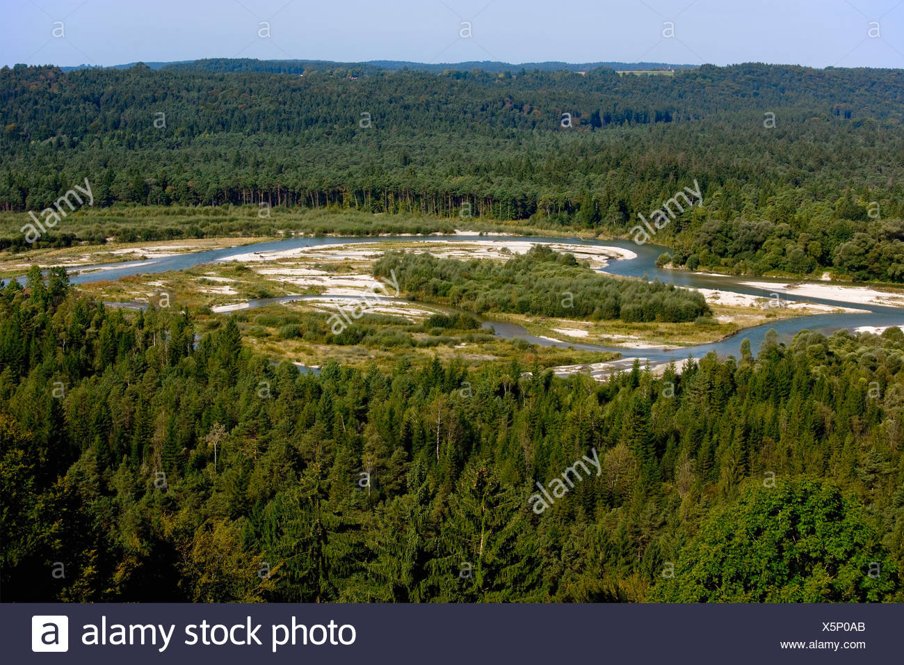 Germany, View of River Isar - Stock Image
