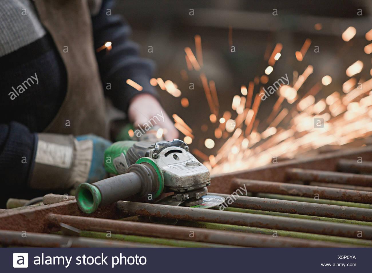 Metal work - Stock Image