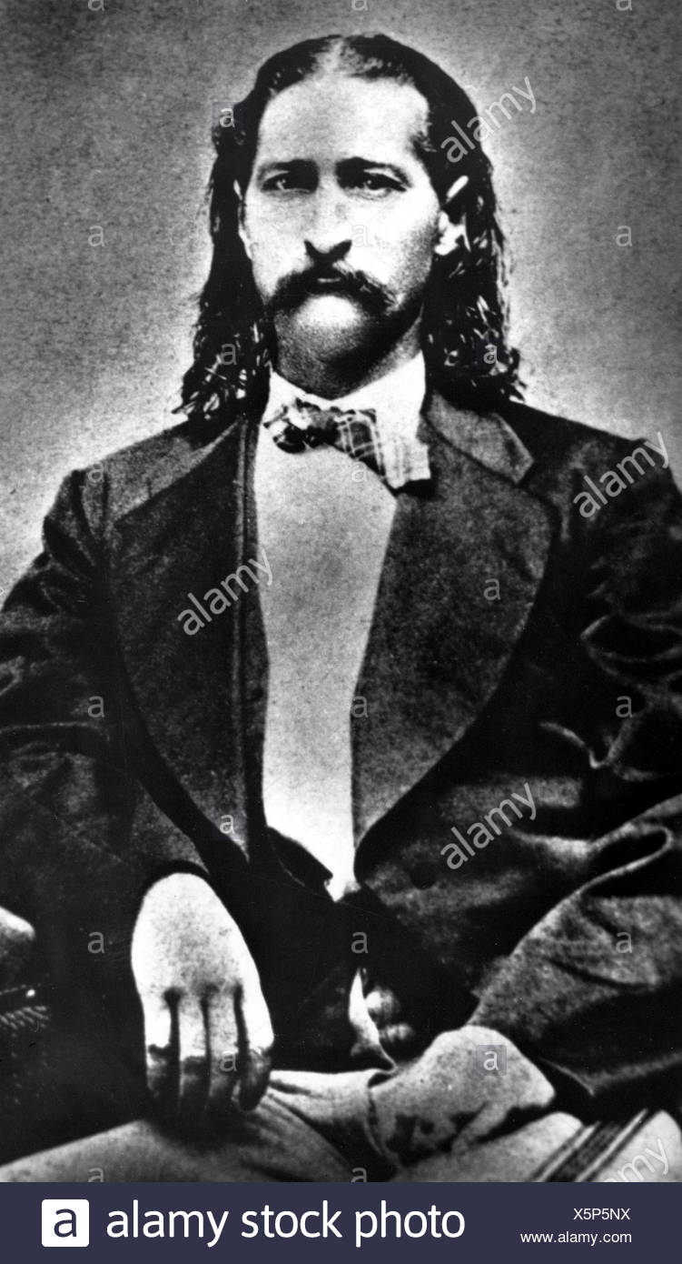 Hickok, James Butler, 27.5.1837 - 2.8.1876, American gunfighter,  19th century, Additional-Rights-Clearances-NA - Stock Image