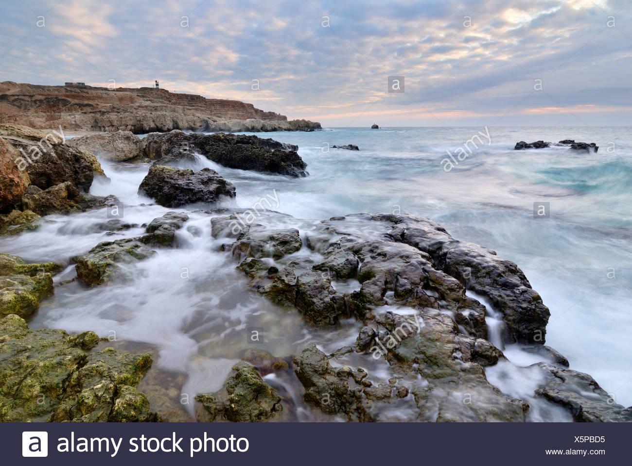 black sea coast near sevastopol - Stock Image