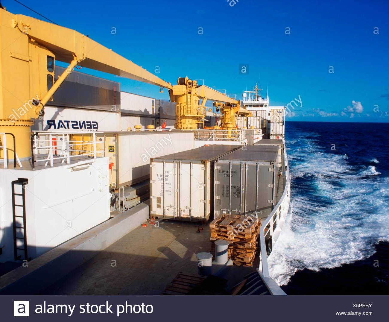 Container Ship At Sea - Stock Image