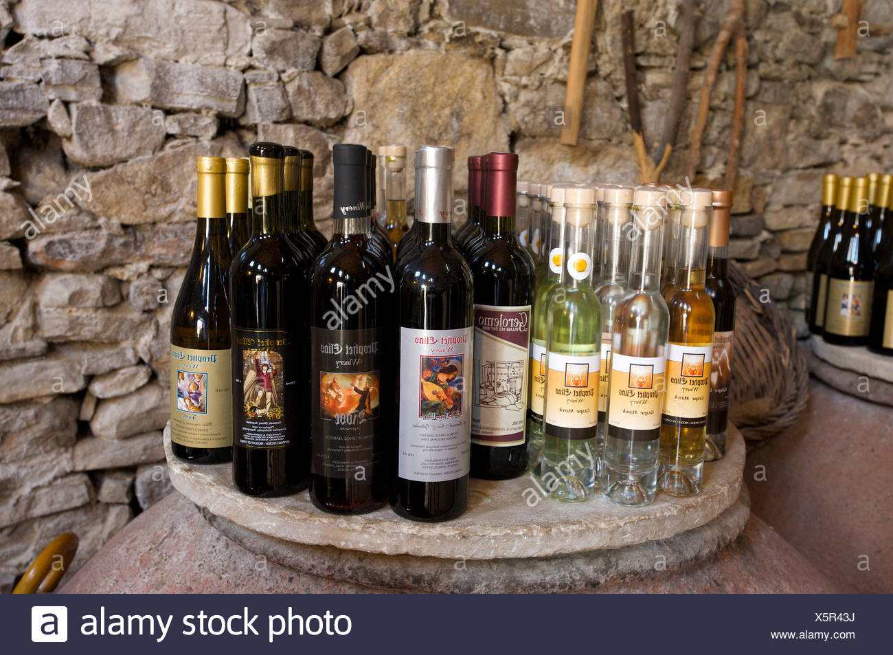 South Cyprus, Cyprus, Europe, wine, business, trade, shops, dealings, shopping, shopping, Troodos, Omodos, - Stock Image