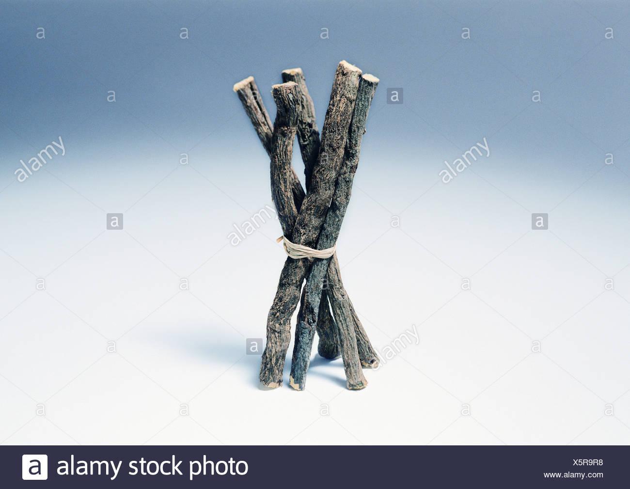 Licorice roots - Stock Image