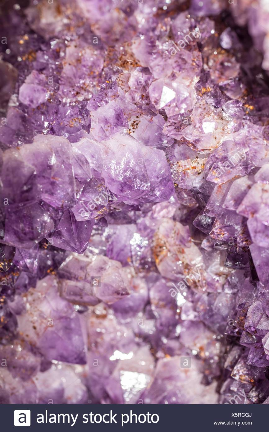 Amethyst cluster - Stock Image
