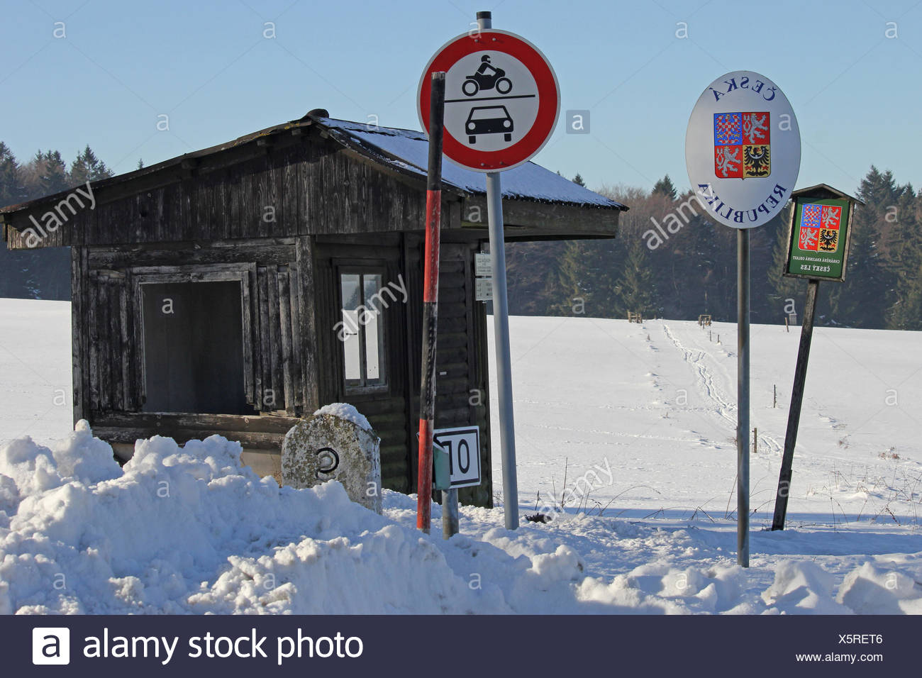Country border - Stock Image