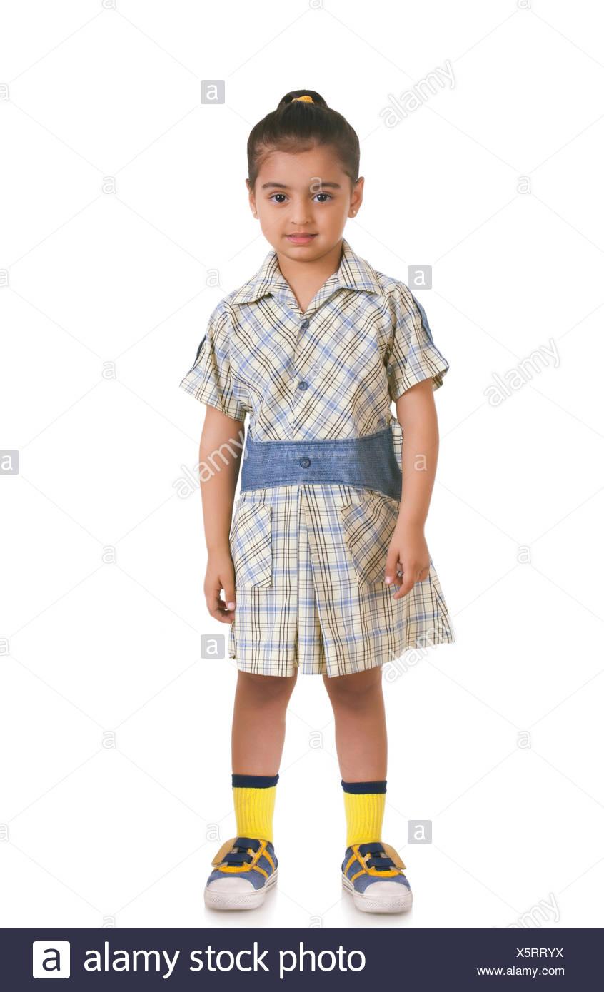 Nice japanese teen in plaits and school uniform