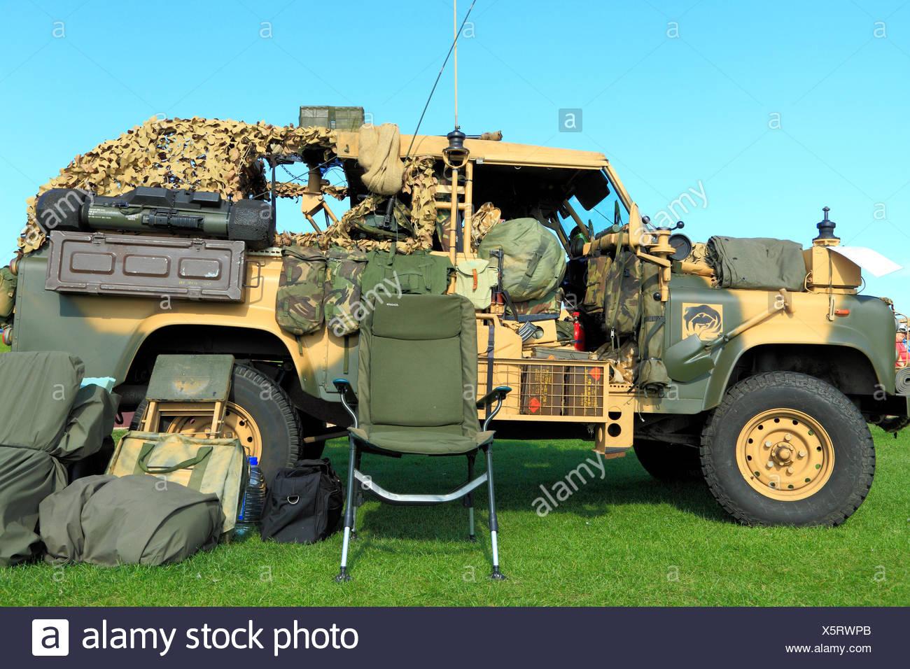 British Army, vintage vehicle, troop carrier, military, vehicles,England, UK - Stock Image