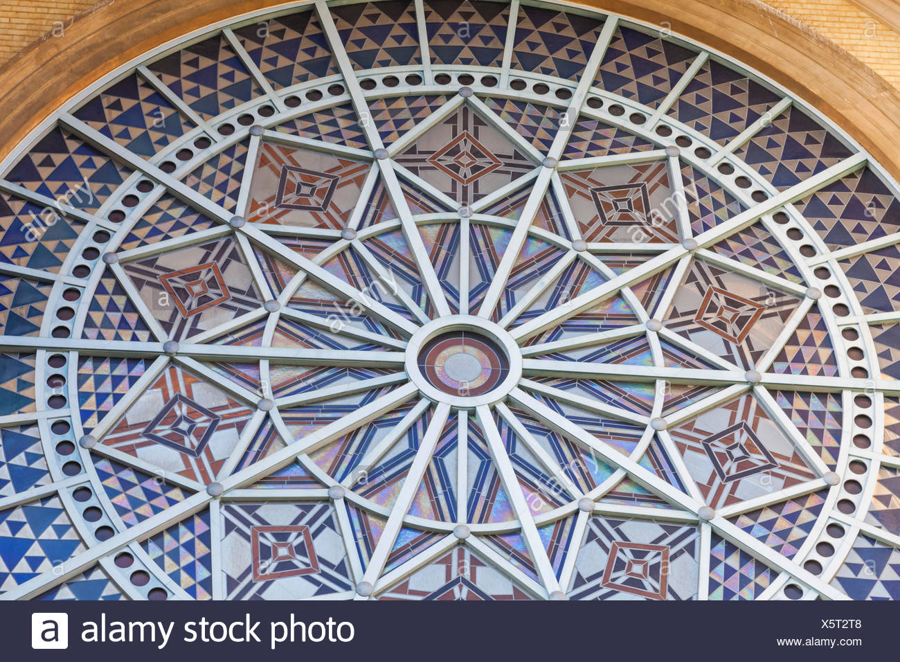 England, London, Alexandra Palace, The Rose Window - Stock Image