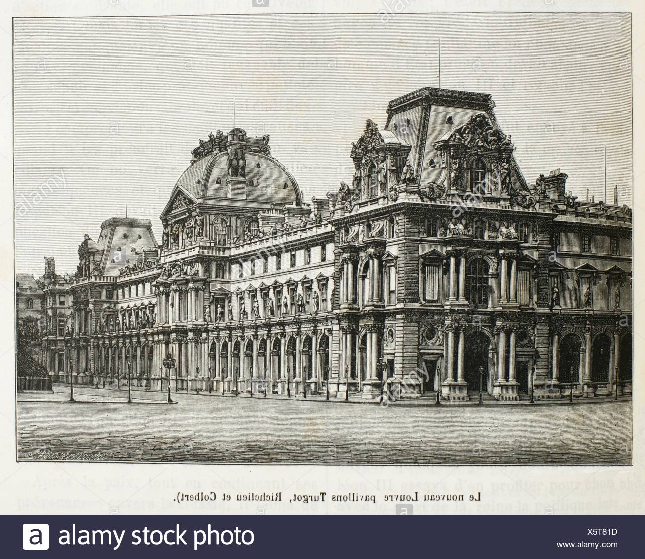 France History 19th Century The Louvre Palace French Palais Du Louvre On The Right Bank Of The Seine In Paris Is A Former Stock Photo Alamy