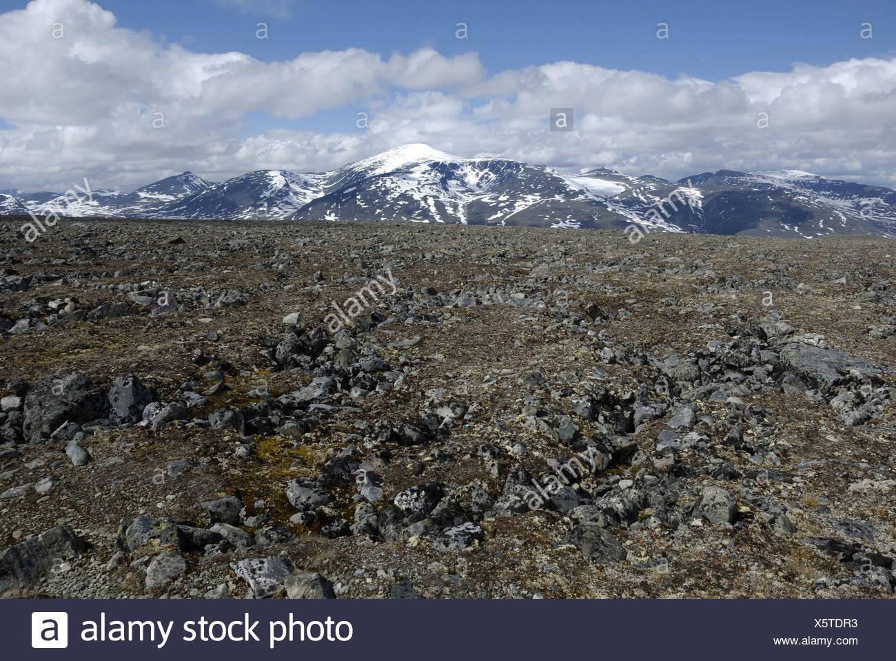 View from Juvasshytta - Stock Image