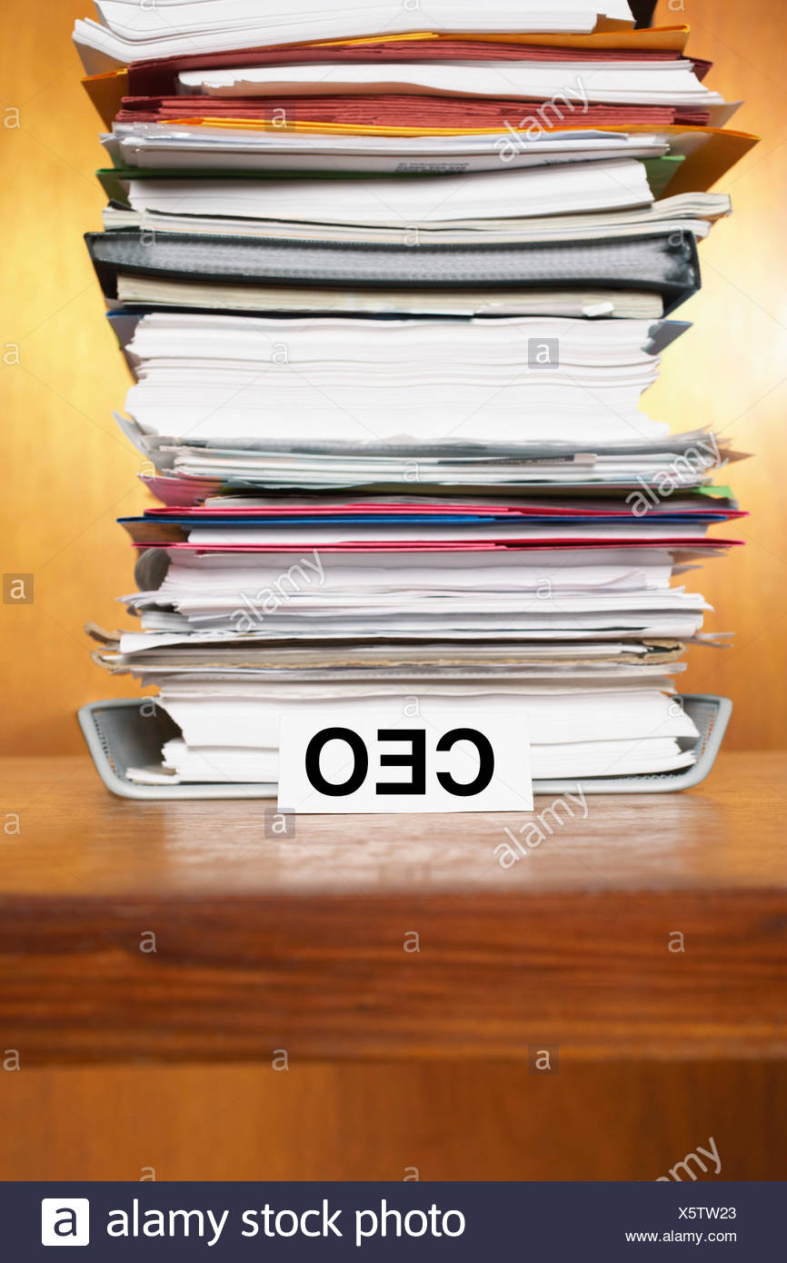 Overflowing Inbox of CEO - Stock Image