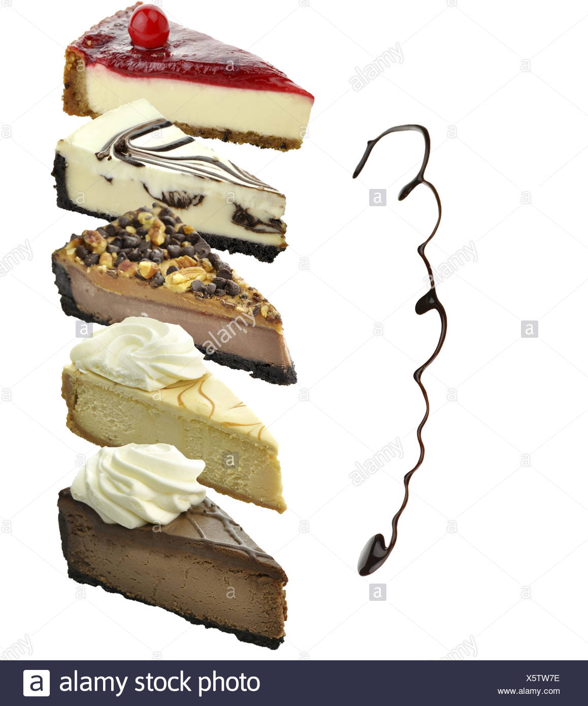 Cheesecake Slices - Stock Image