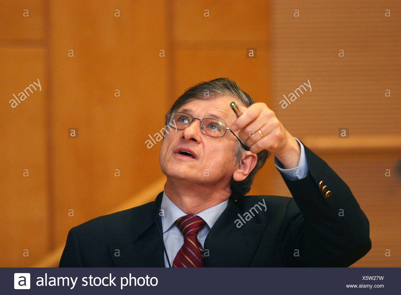 Nobel prize laureate Prof. Dr. Klaus-Olaf von Klitzing Stock Photo