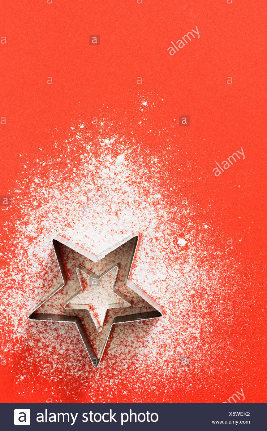 Star shaped cookie cutter - Stock Image