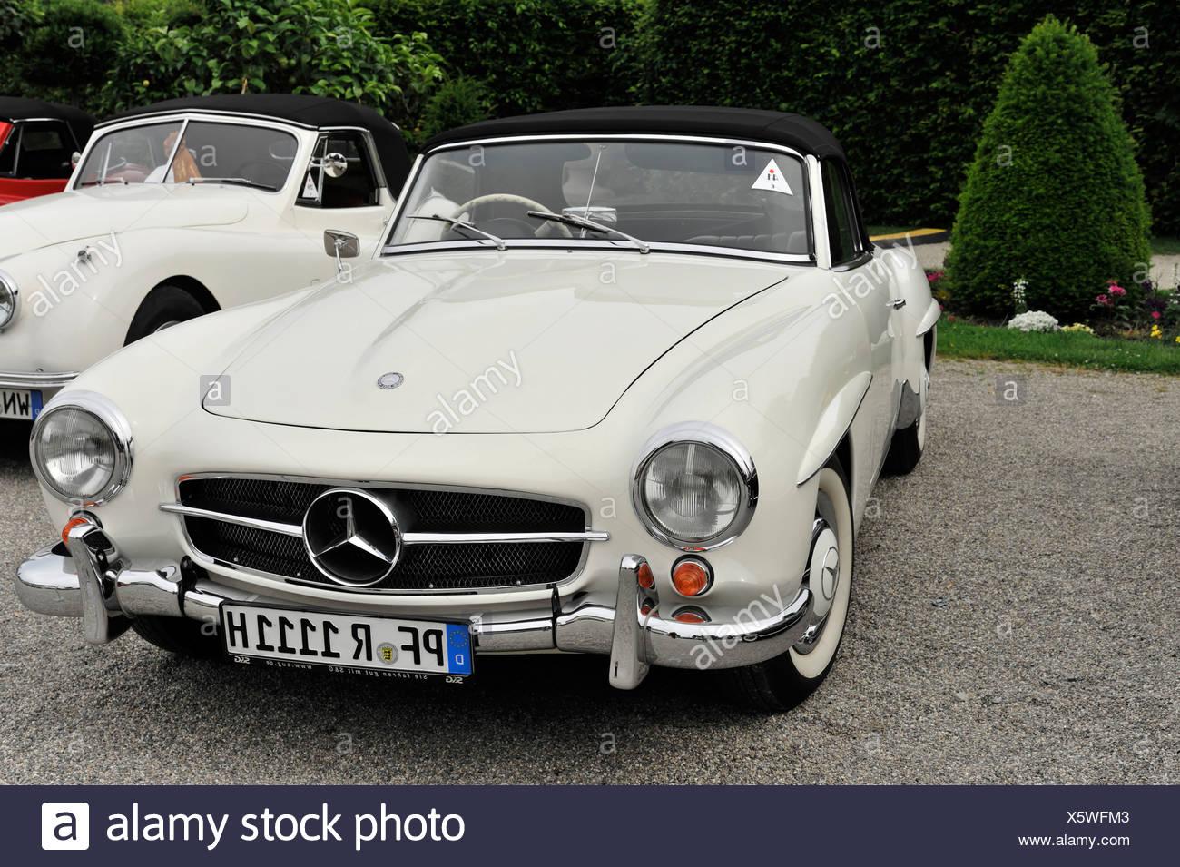 Mercedes-Benz 190 SL convertible, classic car, Retro Classics meets Barock 2012 classic car meeting, Ludwigsburg - Stock Image