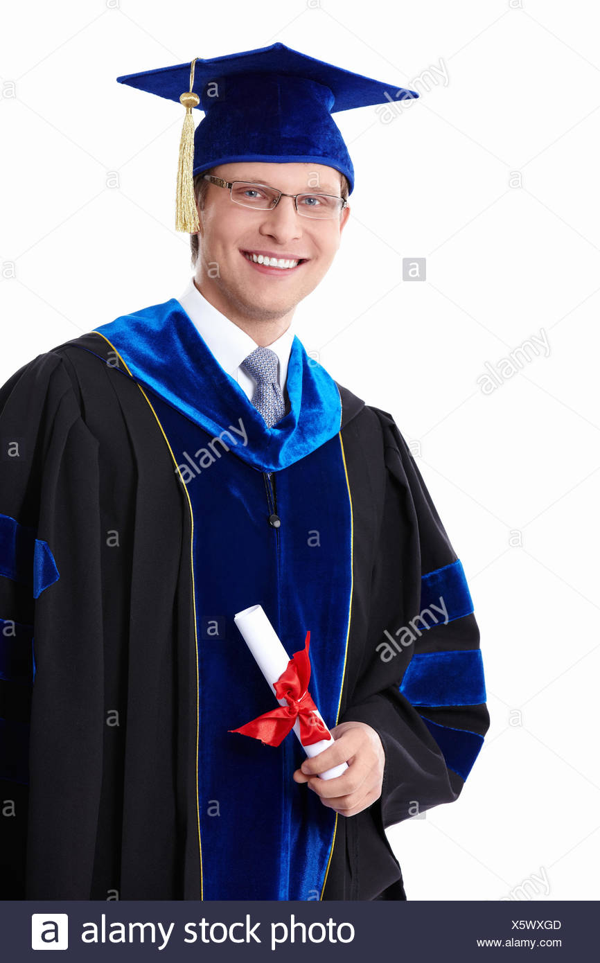 A student with a diploma - Stock Image