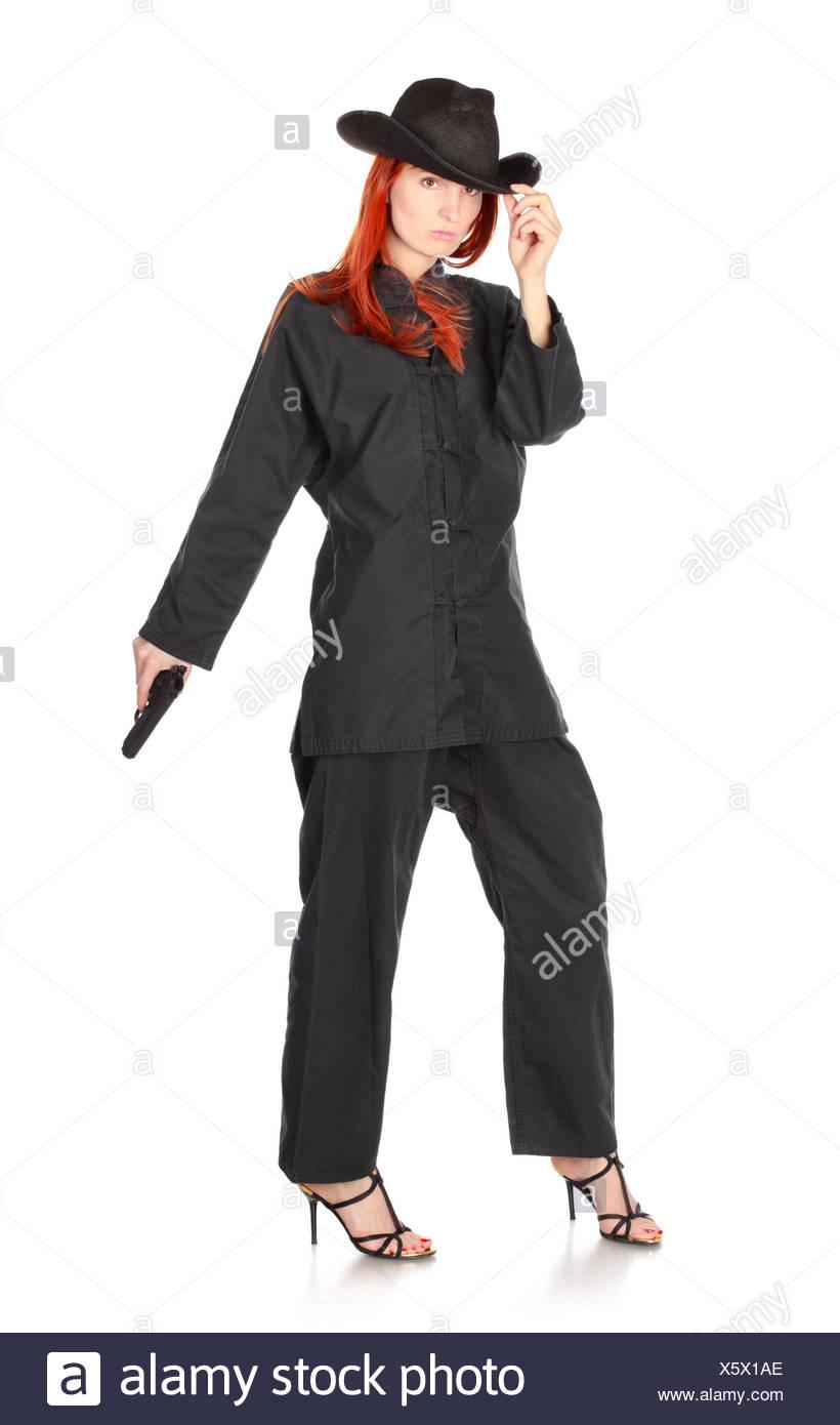 Spy Woman - Stock Image