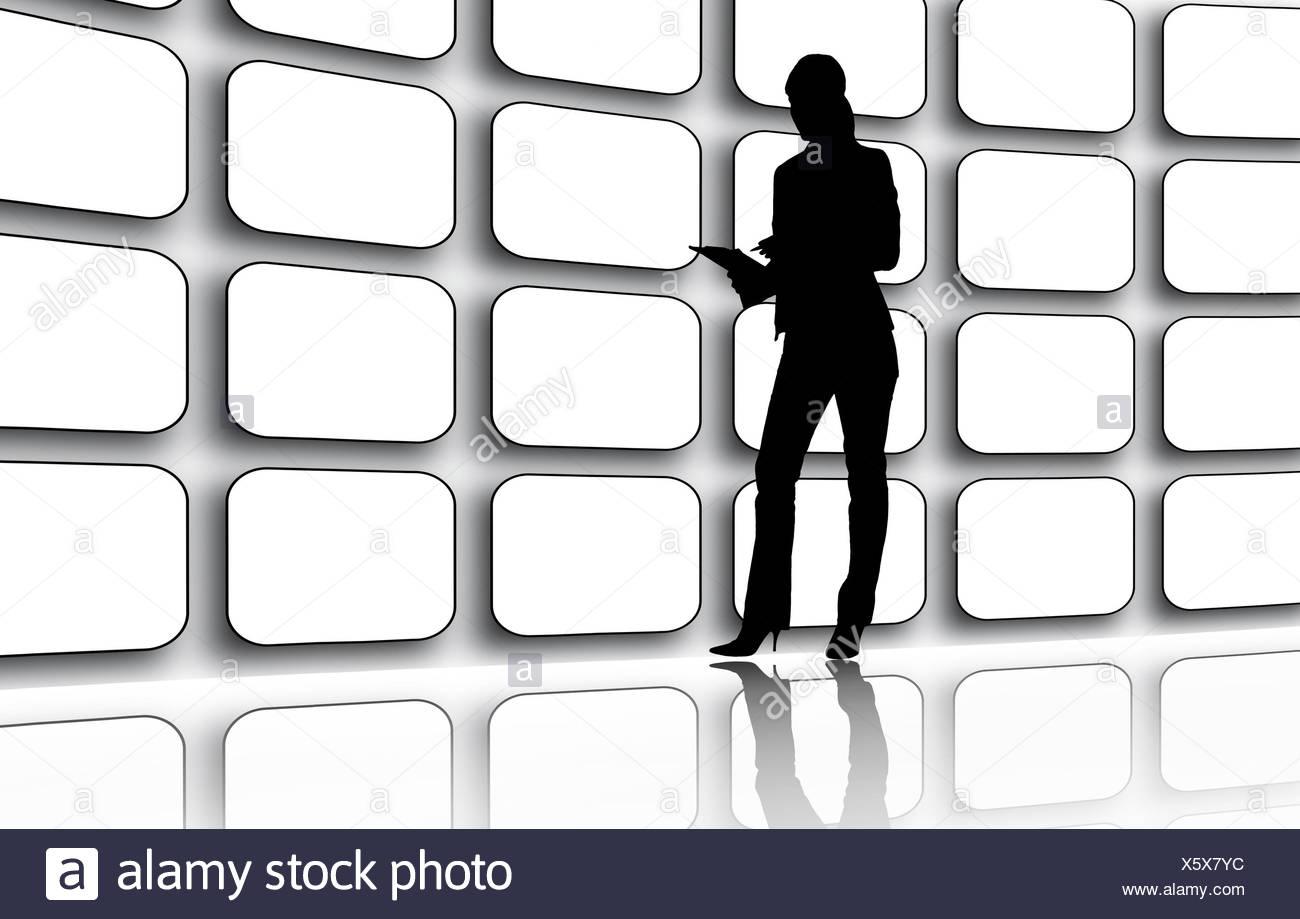 Videowall - Stock Image