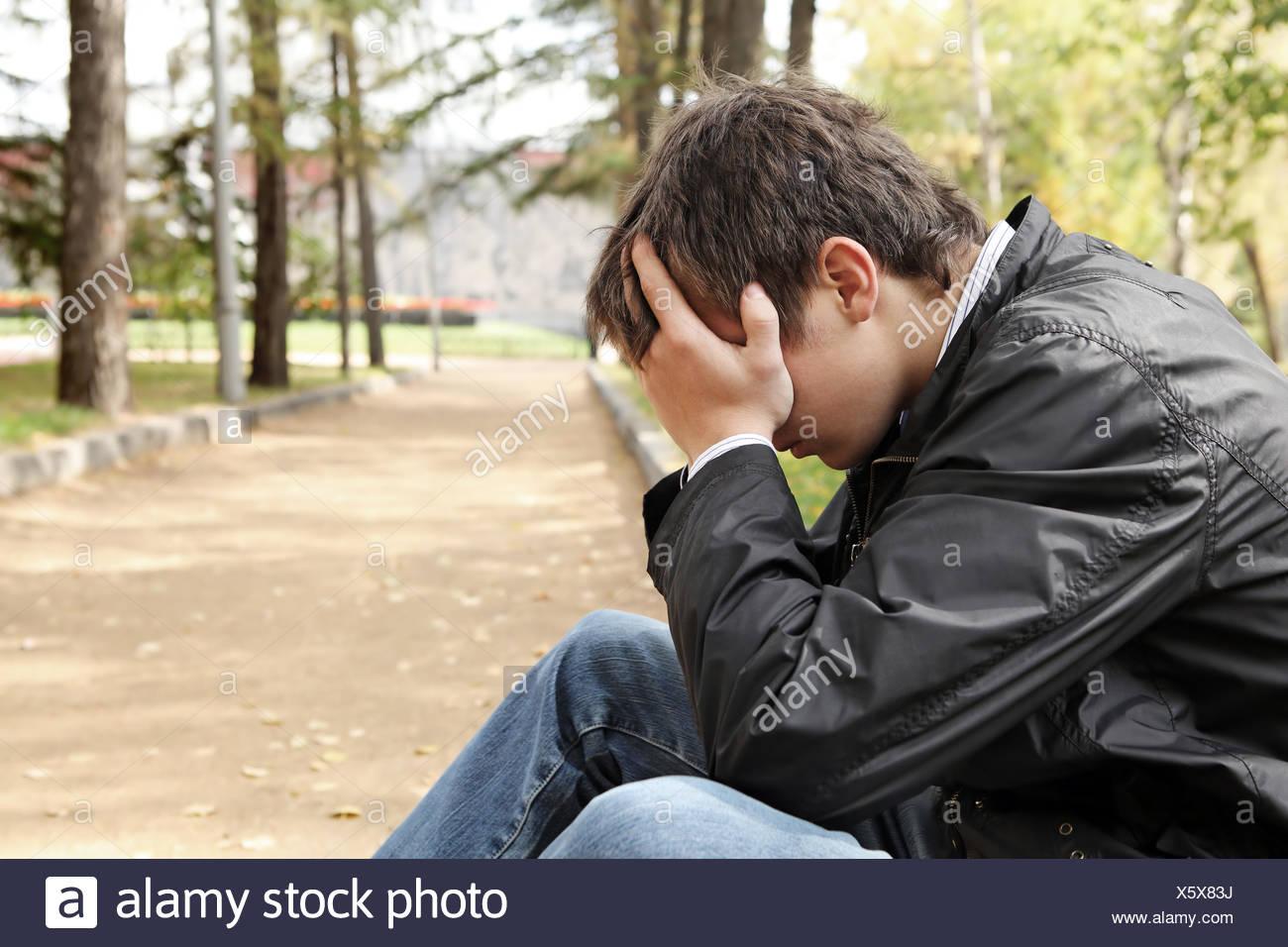 Sad Young Man Stock Photo 279016294 Alamy